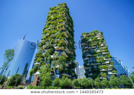 Verticaal bos gebouwen milaan Italië detail Stockfoto © boggy