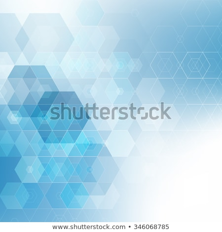 Cube pattern or honeycomb in blue Stock photo © Ustofre9