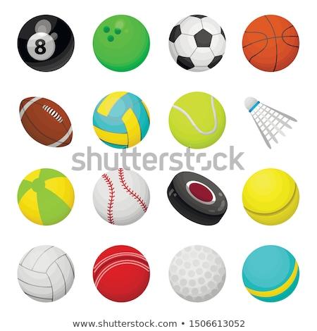 Teniszlabda rajz izolált fehér fitnessz háttér Stock fotó © hittoon