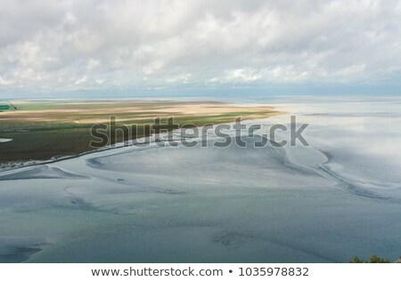 blue · sky · nuvens · normandia · norte · França - foto stock © doomko