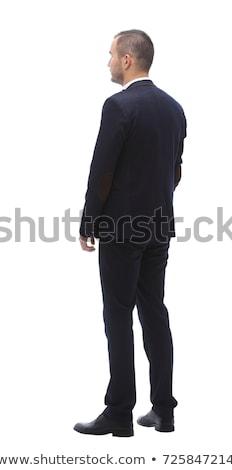 retrato · inteligente · moço · em · pé · preto · sensual - foto stock © feedough