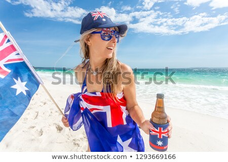 Insouciance femme célébrer Australie jour Photo stock © lovleah