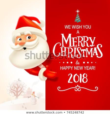 северный · олень · Дед · Мороз · Рождества · шкатулке · красный · окна - Сток-фото © robuart