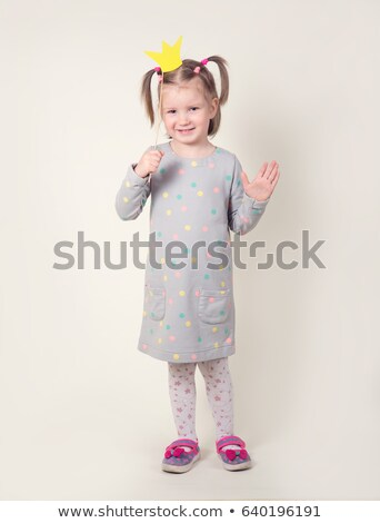 happy beautiful baby girl with crown on head Stock photo © svetography