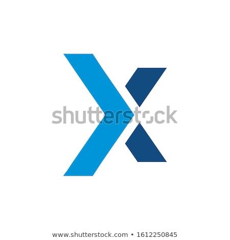 logo logotype vector black blue letter x icon Stock photo © blaskorizov