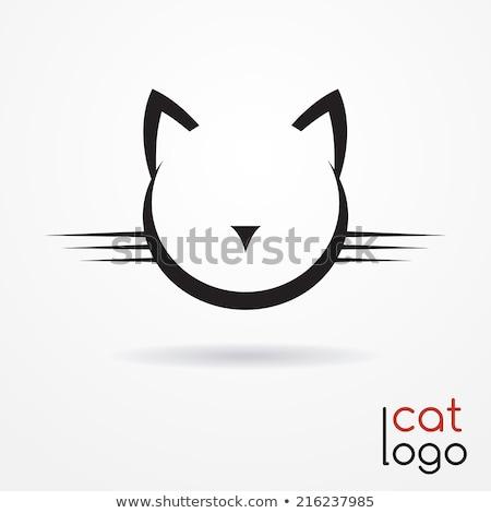 定型化された 猫 アイコン ロゴ 顔 ストックフォト © blaskorizov