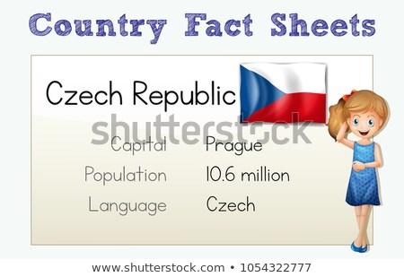 Country fact sheet of Czech Republic Stock photo © colematt