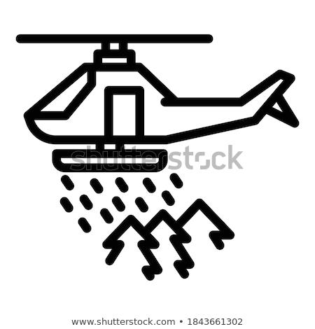Emergency helicopter icon with reflection Stock photo © Imaagio