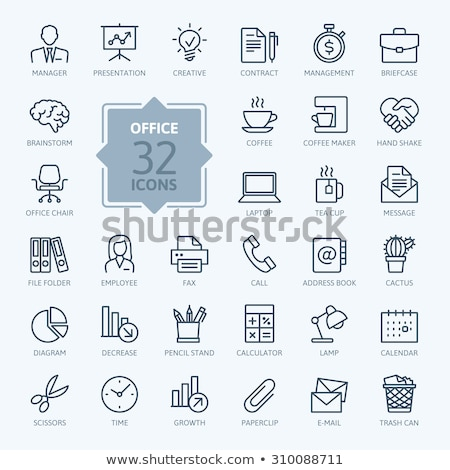 Office Paper and Laptop Book Icons Set Vector Stock photo © robuart