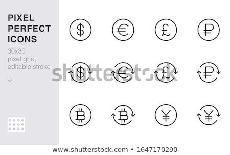 Bitcoin valuta ikon 3D izometrikus izolált Stock fotó © robuart