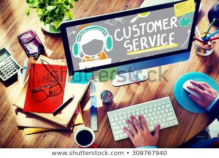 Servicio al cliente rendimiento análisis evaluación línea apoyo Foto stock © cifotart