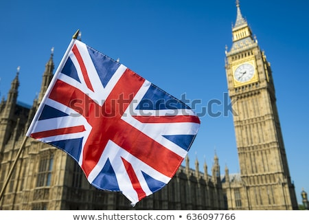 House with flag of united kingdom Stock photo © MikhailMishchenko