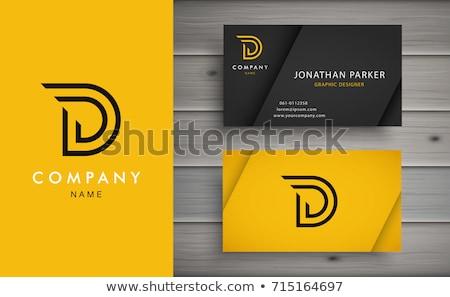 Letra d logo carta diseno vector negocios Foto stock © twindesigner