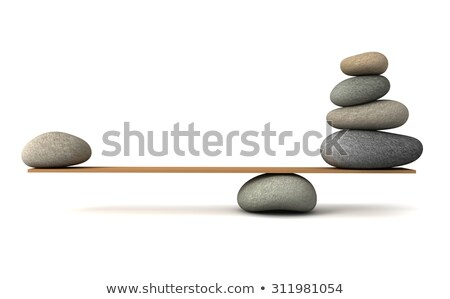 Pebble Stones Balancing On Seesaw Stock photo © AndreyPopov