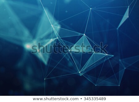 abstract blue triangles fractal background Stock photo © SArts