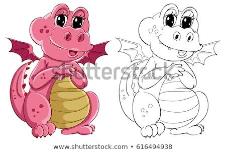 черно · белые · изображение · дракон · не · детей · книга - Сток-фото © colematt