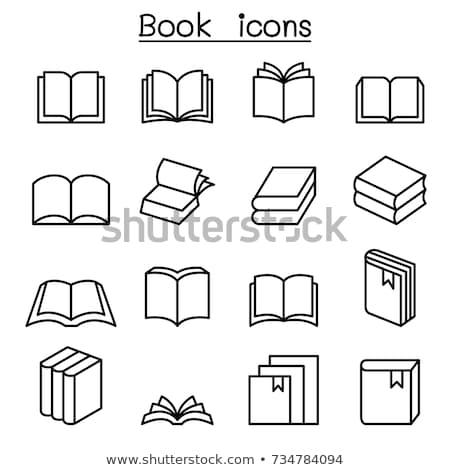 Vektör ayarlamak kitap dizayn öğrenme karikatür Stok fotoğraf © olllikeballoon