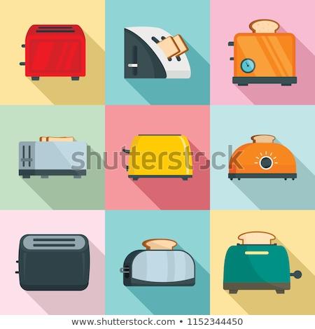 вектора набор хлеб тостер завтрак Cartoon Сток-фото © olllikeballoon