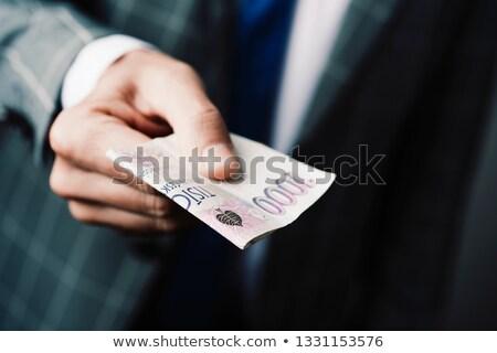 Empresário 1000 tcheco jovem Foto stock © nito