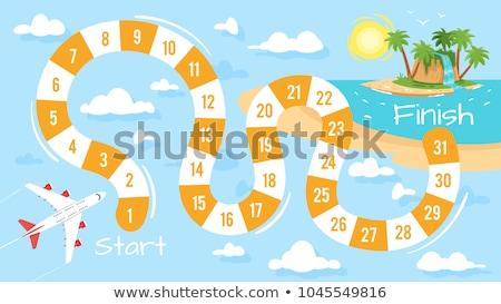 Summer board game template Stock photo © colematt