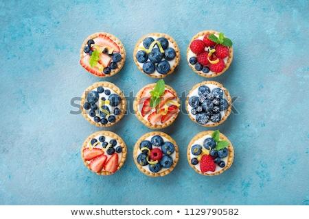 Mini tartlets with cheese cream  Zdjęcia stock © grafvision