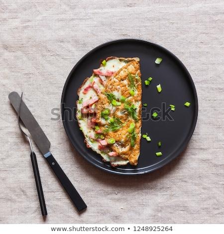 szynka · pomidorów · frytki · jaj · śniadanie · jedzenie - zdjęcia stock © grafvision