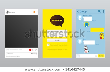 Log in Page of Korean Messenger App Kakao talk Stock photo © robuart