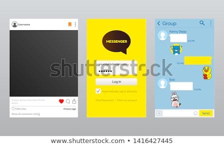 страница посланник приложение говорить вектора почты Сток-фото © robuart