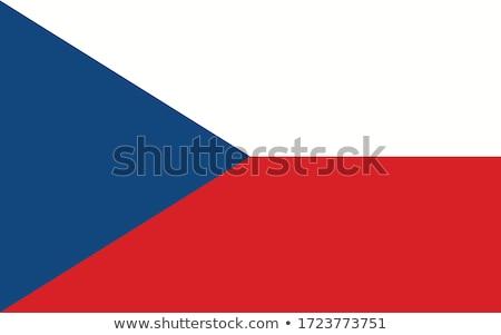 Vlag witte achtergrond frame vrijheid tape Stockfoto © butenkow