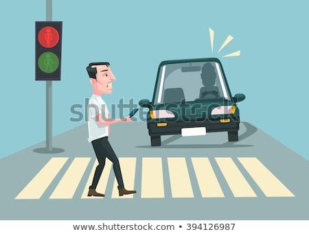 Man Pedestrian Violation Illustration Stock photo © lenm