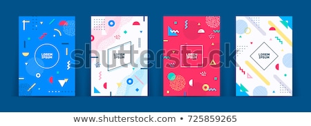 Stockfoto: Abstract · retro · meetkundig · vector · venster · kunst