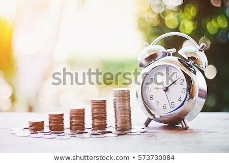 tijd · is · geld · gouden · euro · valuta · teken - stockfoto © kyryloff