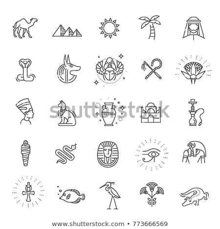 egypt icons set stock photo © netkov1