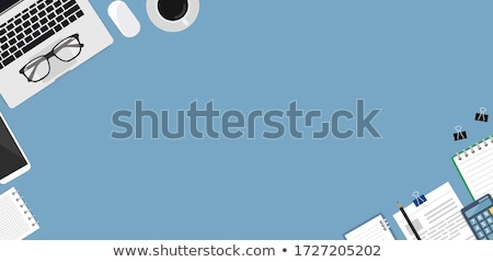 Modern Technology On Workplace Flat Lay Vector Stock photo © pikepicture