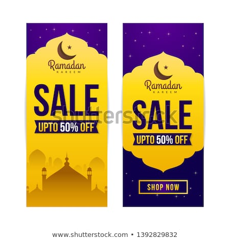 eid festival sale vertical banners set Stock photo © SArts