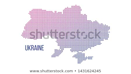 Ukraine pays carte résumé en demi-teinte Photo stock © kyryloff