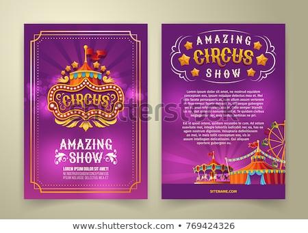 Circo anunciante ilustración fondo tigre rojo Foto stock © bluering