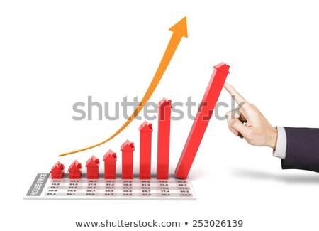 Stok fotoğraf: Işadamı · ev · pazar · büyüme · minyatür · modelleri