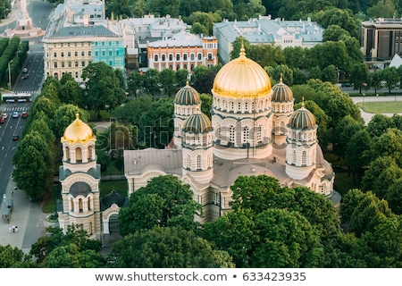 Riga kathedraal Letland rivier Stockfoto © borisb17