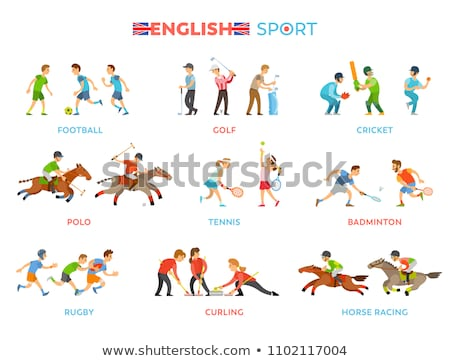 English Sport Poster, Golf and Cricket Vector Stock photo © robuart