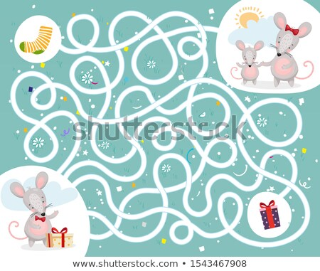 Stock photo: Differences Game With Mice Animal Characters