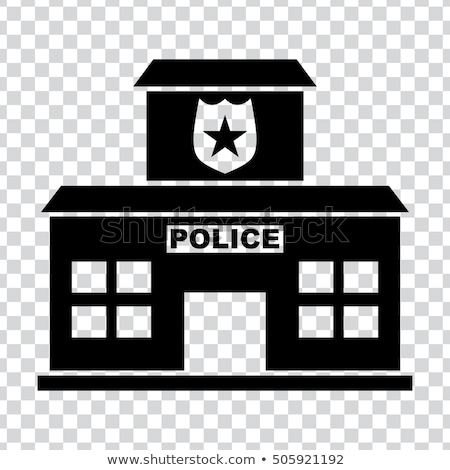 isometrische · politie · station · icon · business · huis - stockfoto © Mark01987