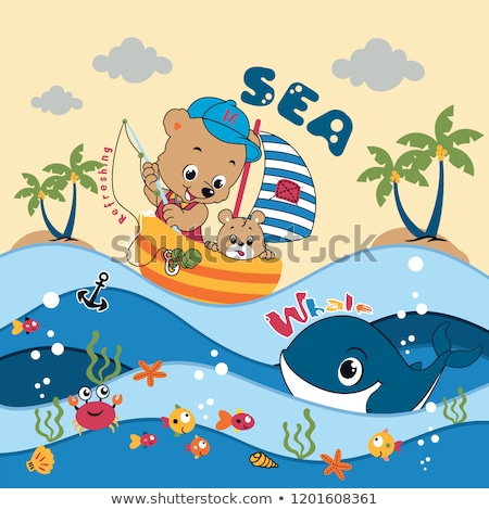 Summer Crab Oceanic Underwater Cartoon Animal Stock photo © robuart