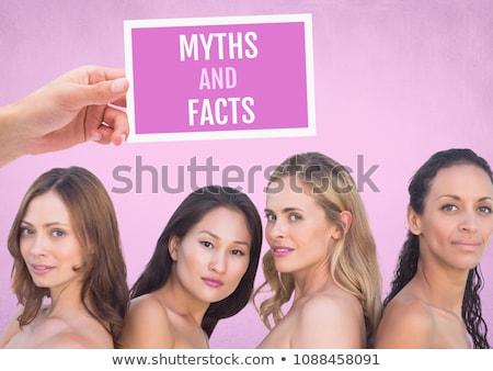 данные текста розовый Рак молочной железы осведомленность женщины Сток-фото © wavebreak_media
