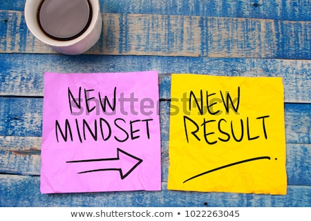 Change to positive attitude. Psychology concept. Stock photo © olivier_le_moal