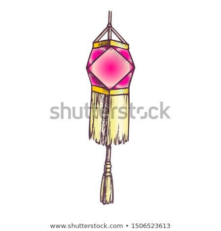 Decoratief lantaarn feestelijk detail retro vector Stockfoto © pikepicture