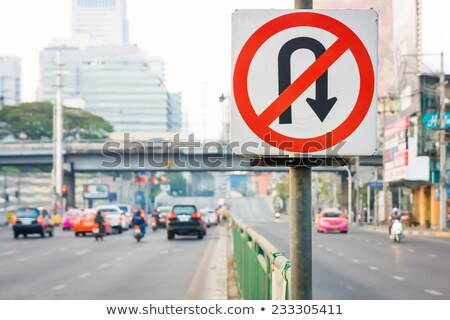 U-Turn forbidden - road sign Stock photo © boroda