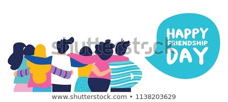 Gelukkig jeugd dag banner leuk teen Stockfoto © cienpies
