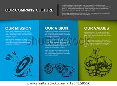 estratégia · de · negócios · missão · ícone · analítica · alvo · tempo · é · dinheiro - foto stock © rastudio