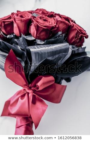 Lusso bouquet corallo rose marmo bella Foto d'archivio © Anneleven